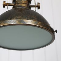 Industrial Gold Ceiling Pendant Light Fitting - Windsor Browne