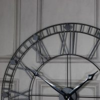 Black Iron Skeleton Wall Clock - Windsor Browne