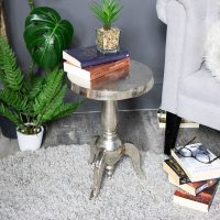 Small Silver Round Side Table - Windsor Browne
