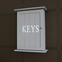 Grey Wall Mounted Wooden Key Cabinet - Windsor Browne