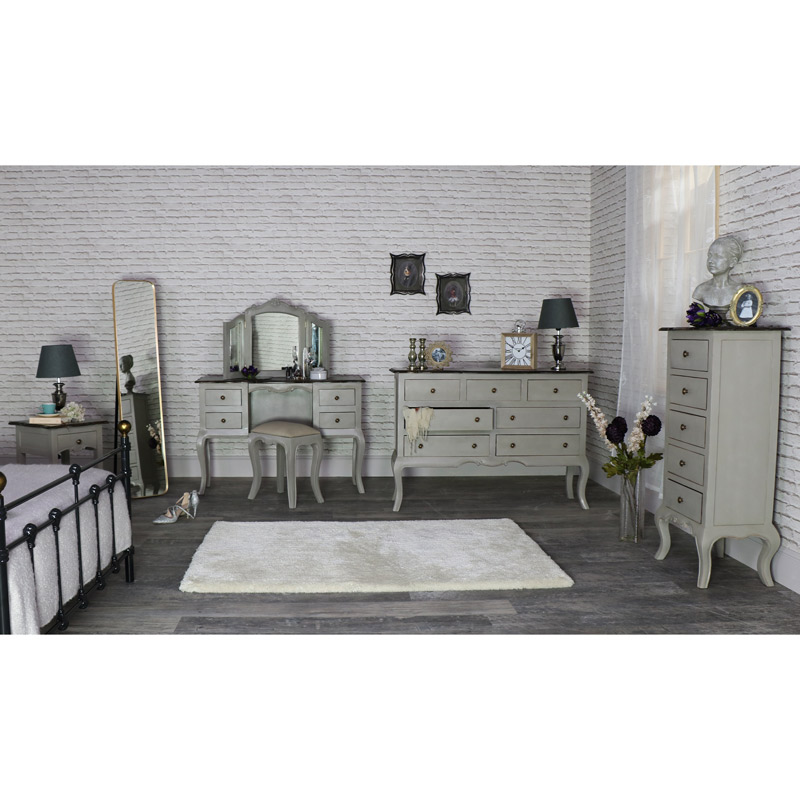 Grey Bedroom Furniture Set Large Chest of Drawers