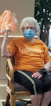 20210319 152113 scaled - Windsor Gardens Assisted Living residents supporting the VOLS in the NCAA Tournament
