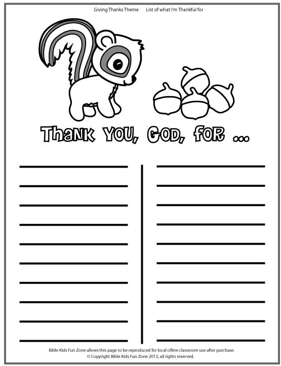 Thanksgiving-list-chipmunk-coloring-page