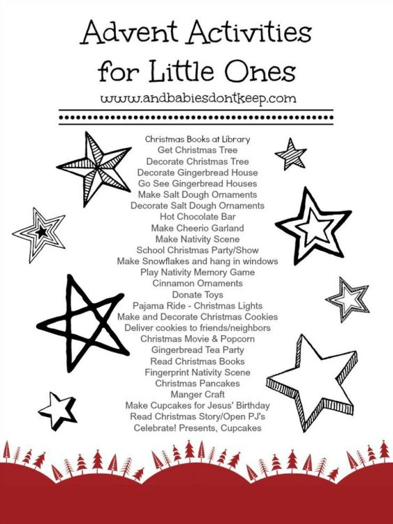 Advent Activties for Little Ones