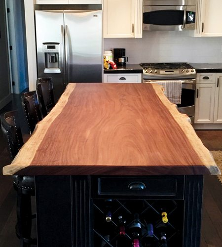 live edge kitchen table copper faucets specialty wood home improvement windsor plywood parota lumber
