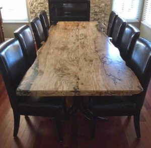 maple kitchen table food storage kim s spalted windsor plywood