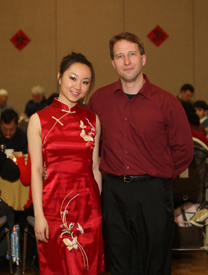 Gala hosts, Simin Xu and Jay McCoy during the 2010 Chinese Culture Institute of Greater Windsor, Chinese New Year gala held at the Caboto Club in Windsor, Ont., on Feb., 6, 2010.