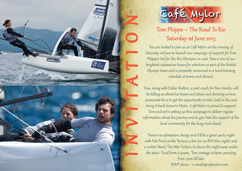 Tom Phipps A Road To Rio This Weekend At Cafe Mylor