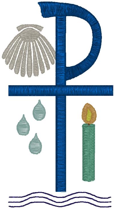 baptism symbols embroidery design