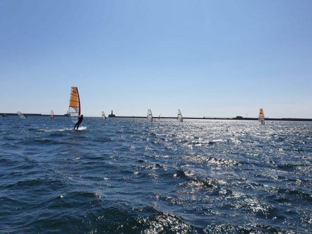 Windsurfing photo at sea