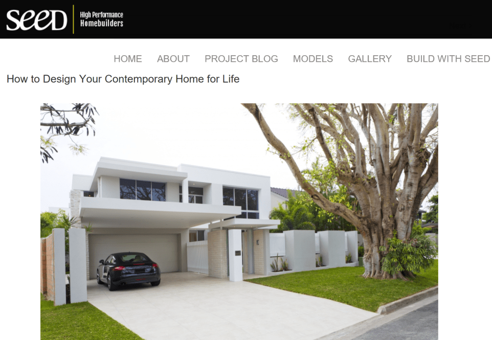 SEED blog: high-performance homes