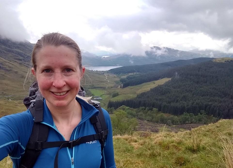 Me hiking in Scotland