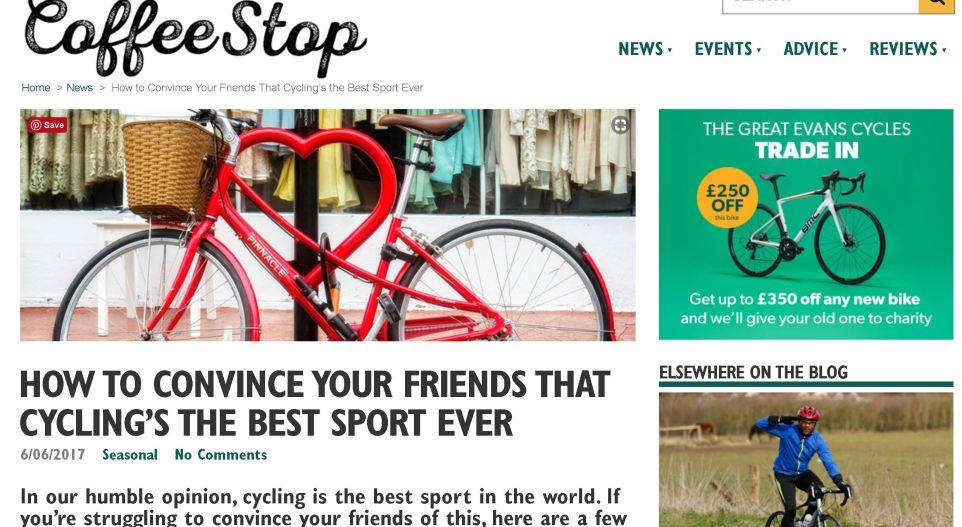 Evans Cycles Lifestyle Piece