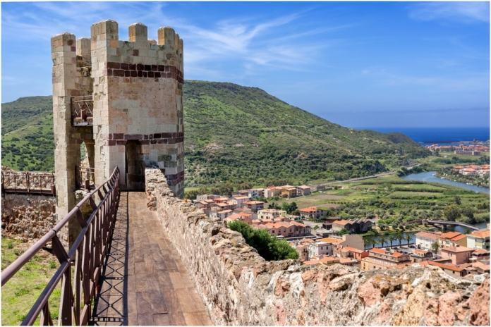 château de Serravalle, Sardaigne, Italie