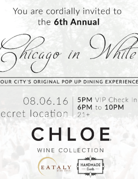 Chicago in White Pop Up Dining Experience