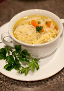 Chicken Noodle Soup with Matzo Balls
