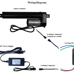 Actuator Wiring Diagram Real Human Lung Windynation Linear 12 Volt 12v 225 Pounds Lbs