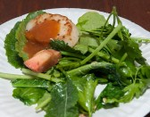 Seared Scallop over arugula salad, Monterey Plaza Restaurant (Edgar Solis)