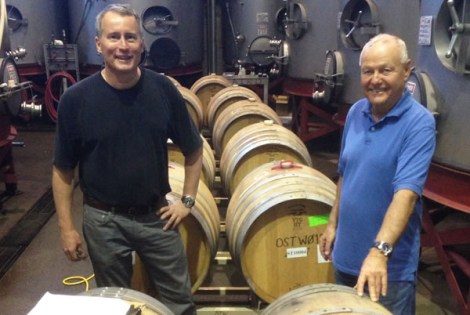 Bob Binder and Walter Jost, owners of Silver Trident Winery in Napa Valley. (Courtesy of Silver Trident Winery)