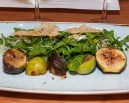 Hudson Ranch fig salad, panache, osborne prolific, black mission, sylvetta, pecorino Toscano.