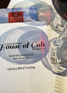 House of Cab Blind Tasting House of Cab Stag's Leap District