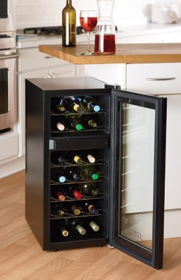 Store Wine in a SPT Dual Zone Thermoelectric Wine Cooler