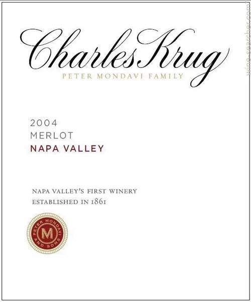 2004 Charles Krug Peter Mondavi Family Merlot
