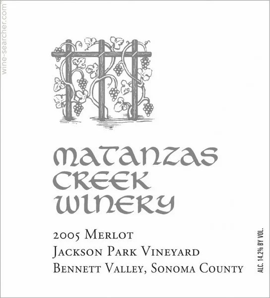 2012 Matanzas Creek Jackson Park Vineyard Merl