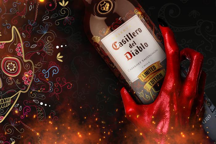 Rótulo do vinho Casillero Del Diablo edição limitada Dia de Los Muertos. Produto exclusivo da Wine