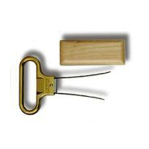 Ahh Super™ Two-Prong Cork Extractor Brass with Birch Wood sheath