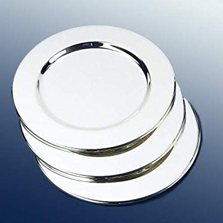 Wine Bottle Coaster, Plat Set of 4  Silver plated
