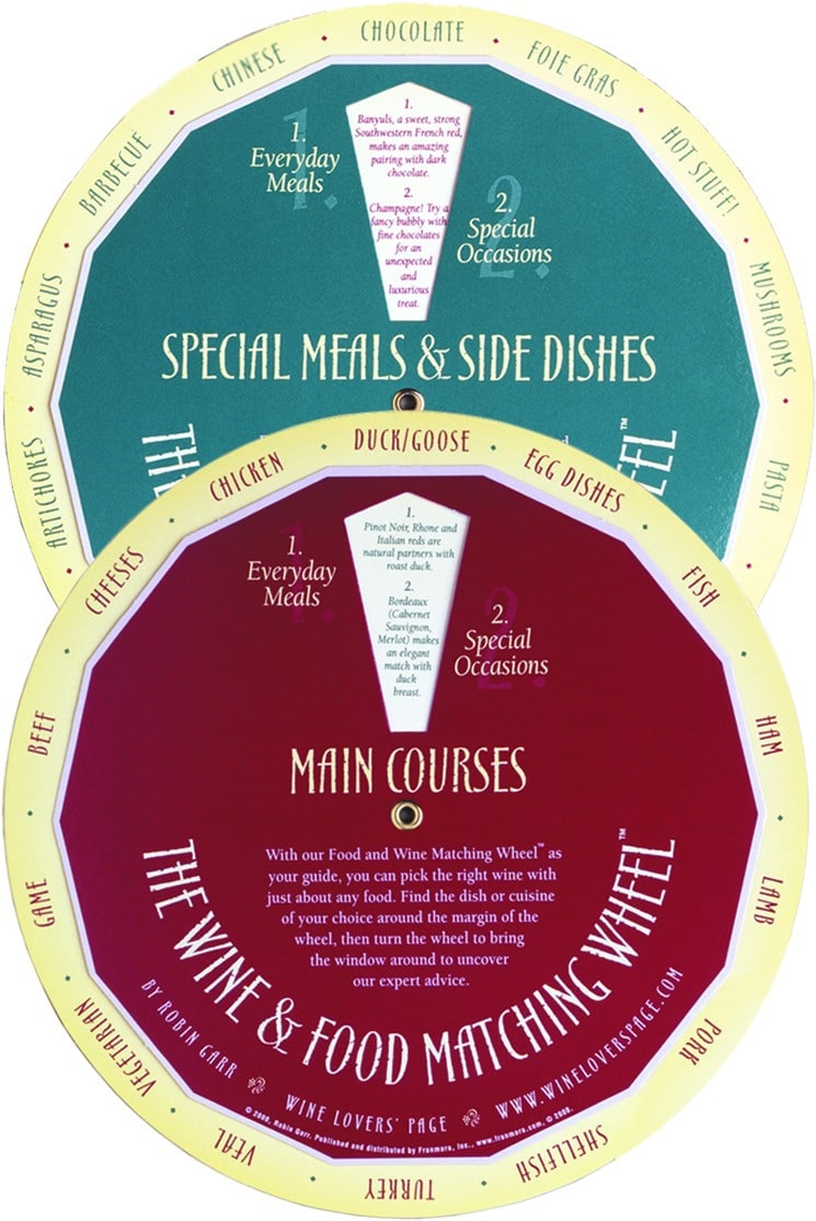 Wine And Food Matching Wheel™ By Robin Garr