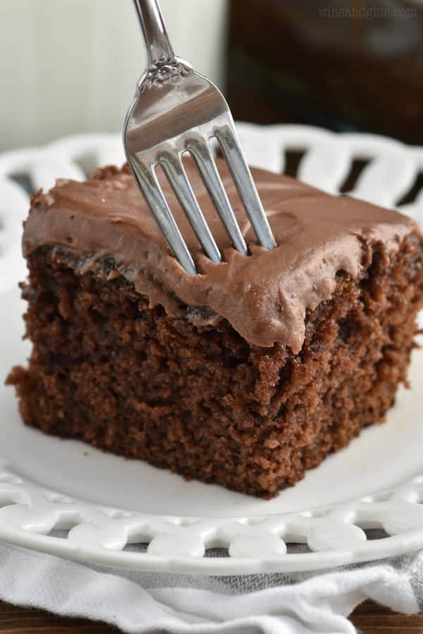 Chocolate Snack Cake With Frosting Wine And Glue