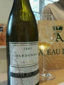 Chardonnay A la Reine 2005. Chateau d'Arlay, Jura, France. July 2016.