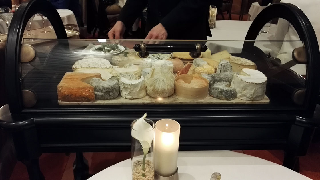 Cheese Cart @ Restaurant Le Foch, Reims. April 2018.