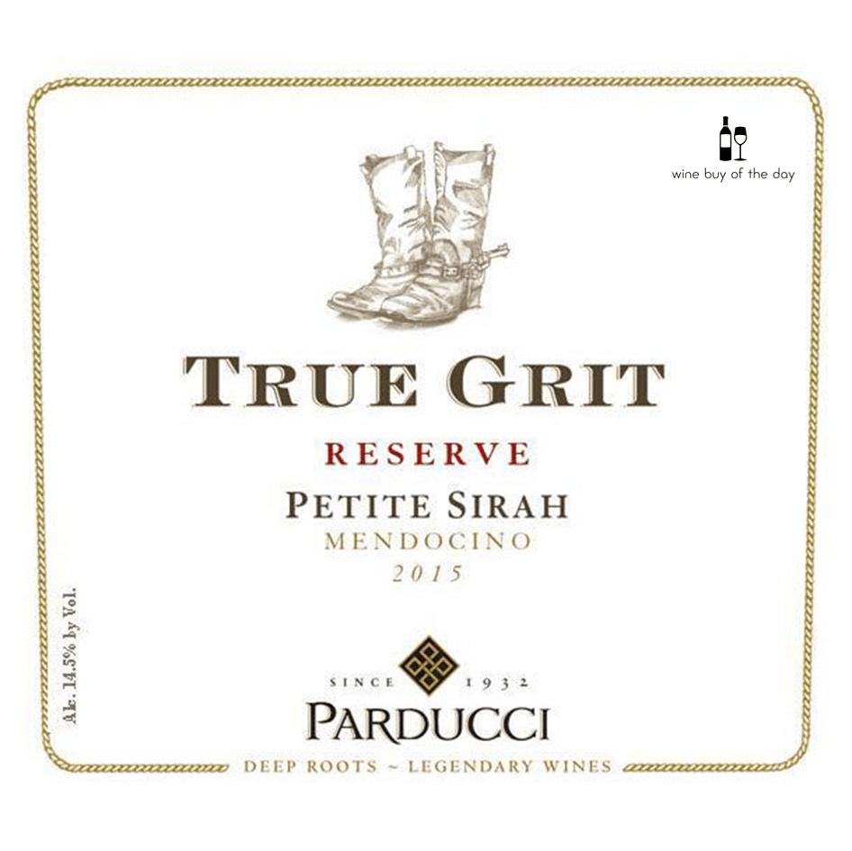Parducci True Grit Reserve Petite Sirah 2015
