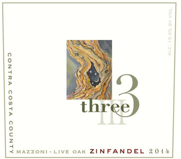Three Wine Company Live Oak Zinfandel 2014