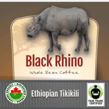 Fair Trade Organic Black Rhino Ethiopian Tikikili   12oz