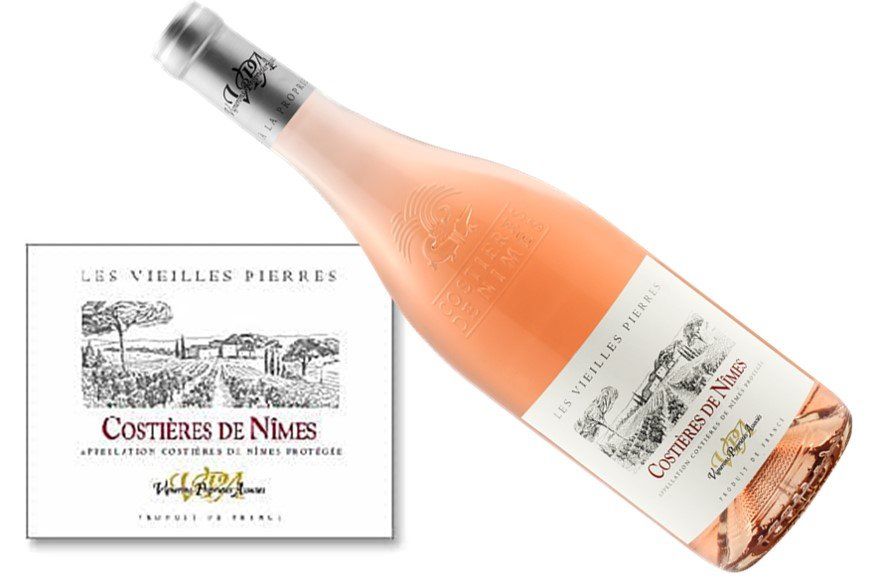 Les Vieilles Pierres Rosé Costières de Nîmes 2017