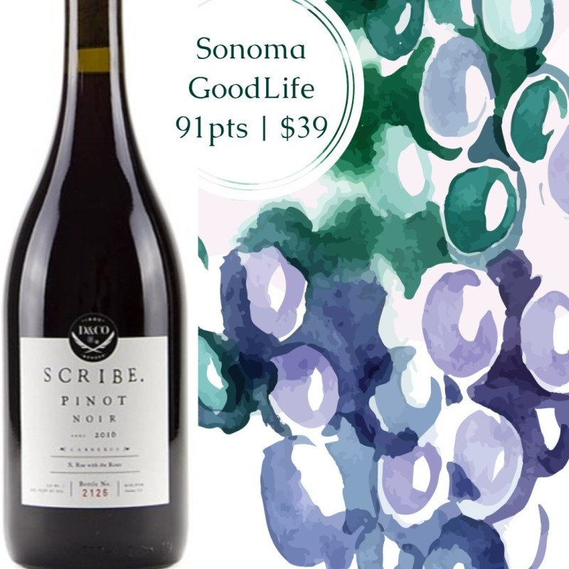 Scribe Pinot Noir Sonoma County 2016