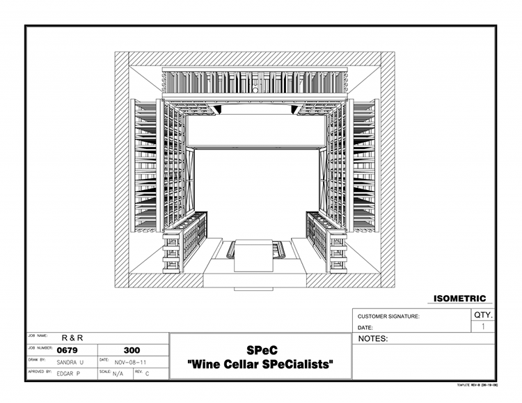 Wine-Cellar-Builders-Atlanta-Georgia-Plan-View-Drawing
