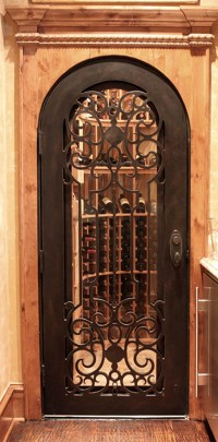 Hand Forged Wrought Iron Custom Wine Cellar Doors & Gates