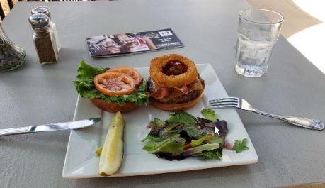 """The """"Kevin Bacon Burger"""" at Carol's"""