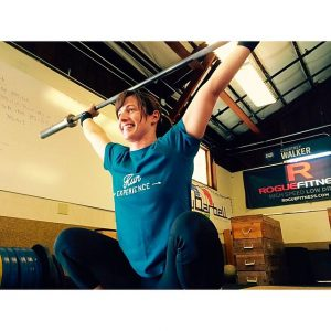 Dianna in overhead squat Horizon Line- Wine Country CrossFit Get Skinny Lean Out