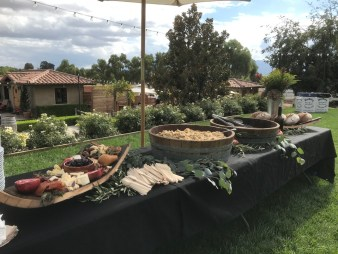 Farm to table lunch