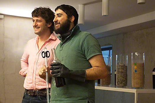 Jurgen Wagner with intern