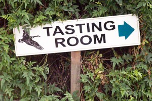 sign for tasting room