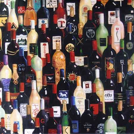 wine bottles as art