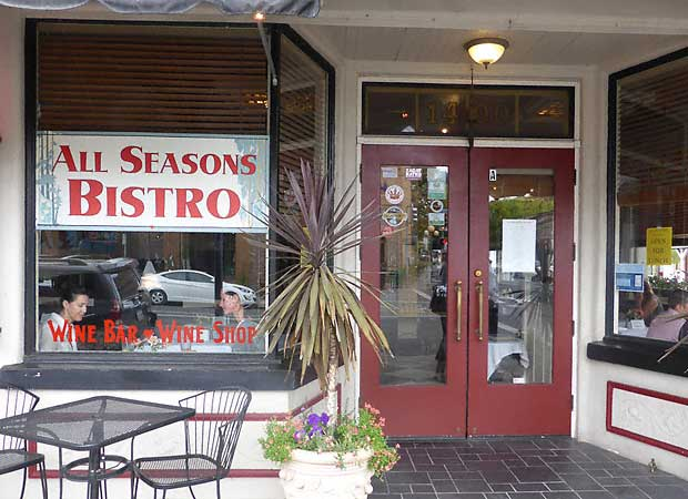 All Seasons Bistro at 1400 Lincoln in Calistoga.