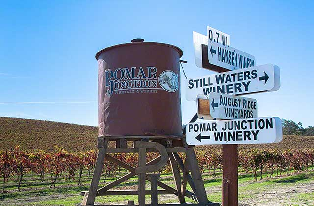 These Pomar Junction vineyard are now in the blah AVA